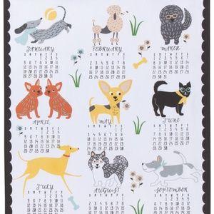 Now Designs Canine Calendar 2020 Tea Towel